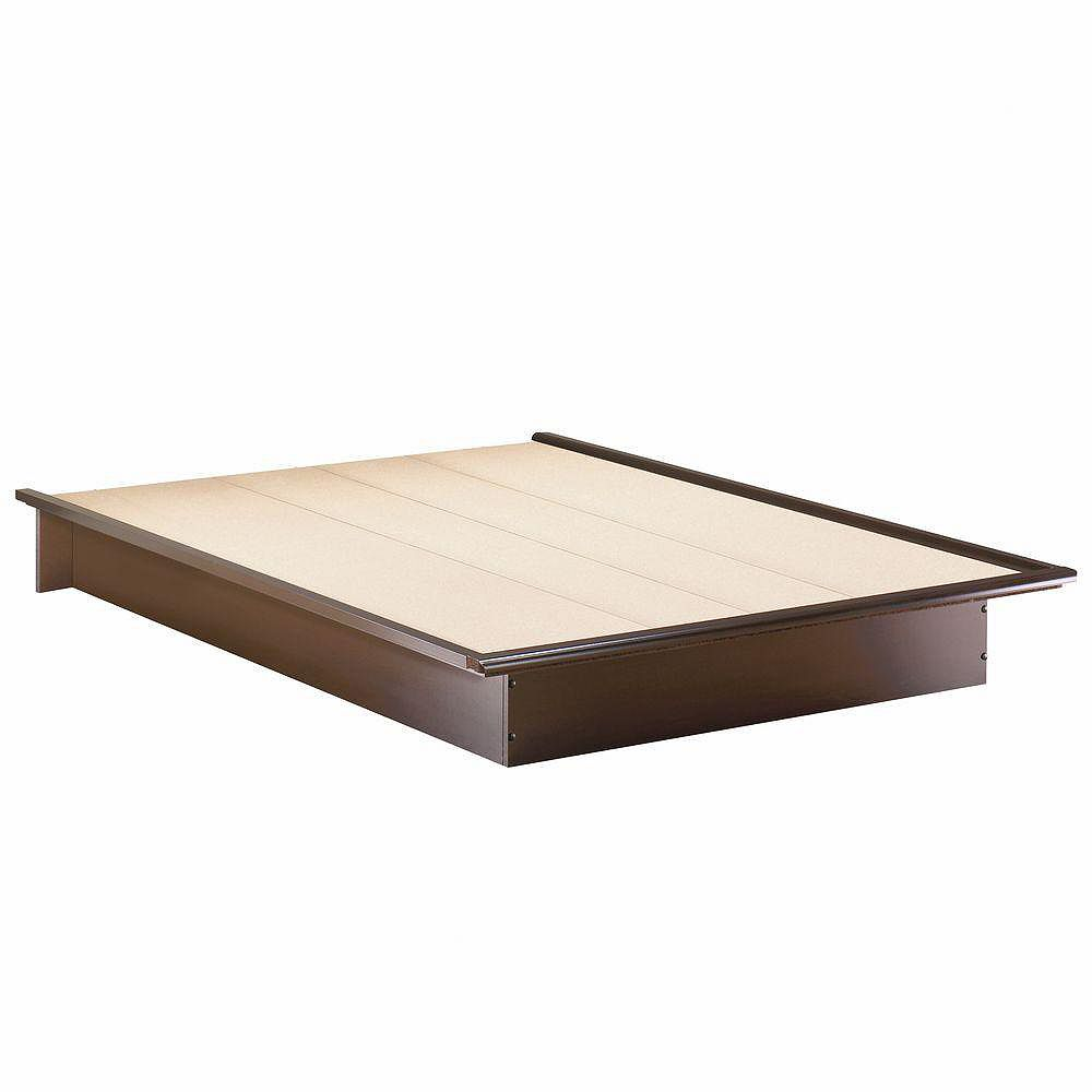 South Shore Step One Queen-Size Platform Bed in Chocolate