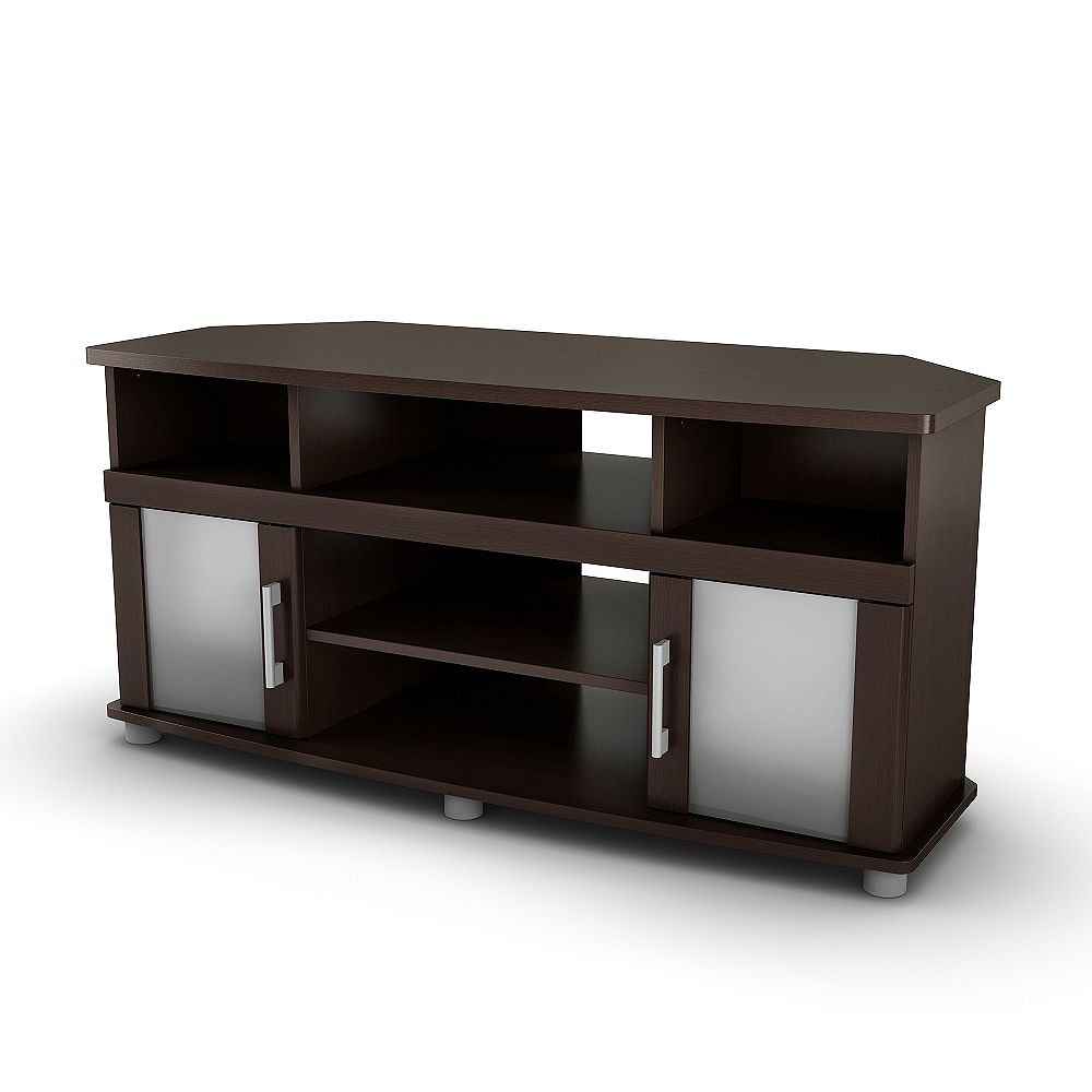 South Shore City Life City Life Corner TV Stand in Chocolate