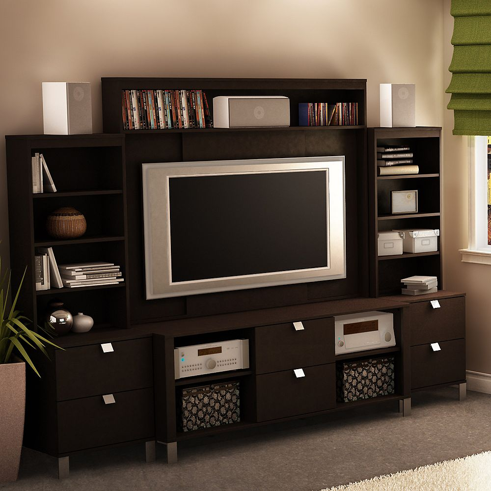 South Shore 52 In. Spectra TV Stand, Hutch & 2 Media Towers