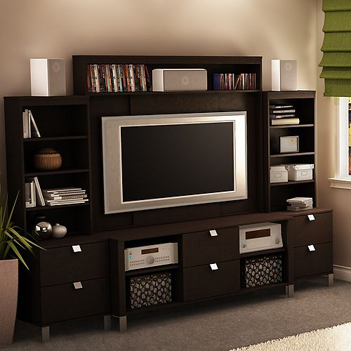52 In. Spectra TV Stand, Hutch & 2 Media Towers