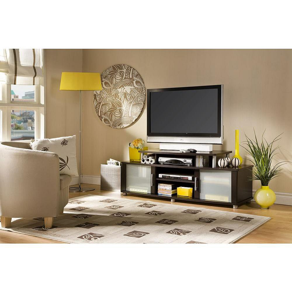 South Shore City Life 59.25-inch x 22.25-inch x 19.5-inch TV Stand in Brown