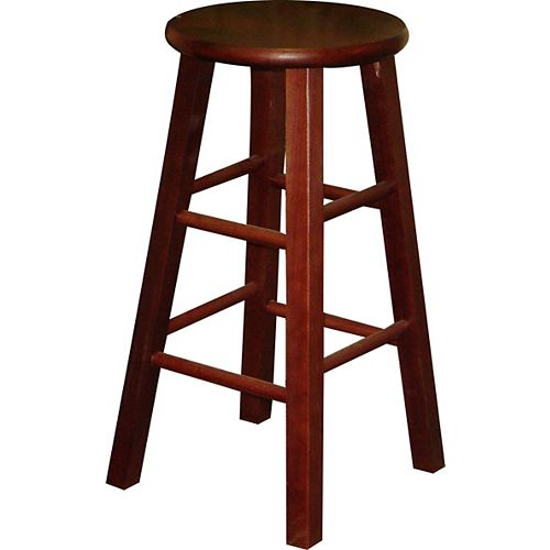 24 In. High Stool - Cherry (Set of 2)