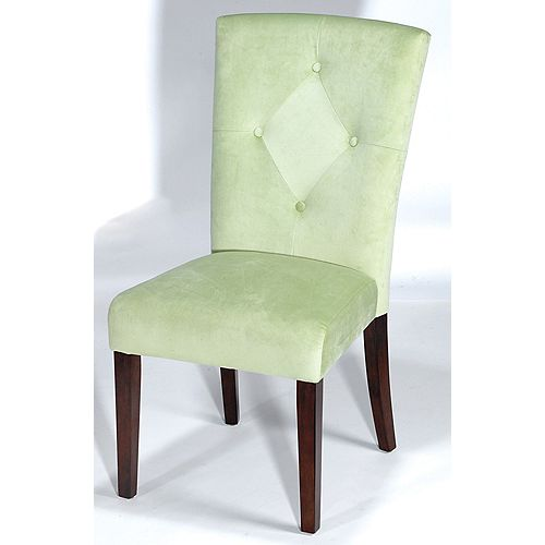 Westhill Velvet Parsons Chair Lime Colour - (Set of 2)