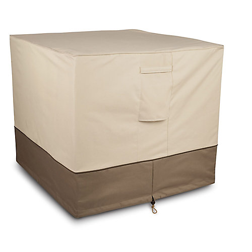 Square Air Conditioner Cover in Tan & Brown