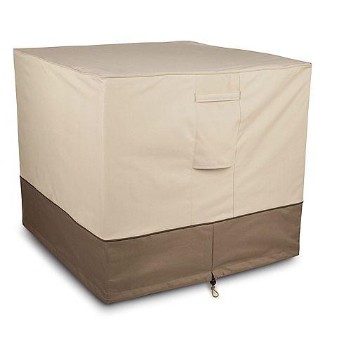 Classic Accessories Square Air Conditioner Cover in Tan & Brown