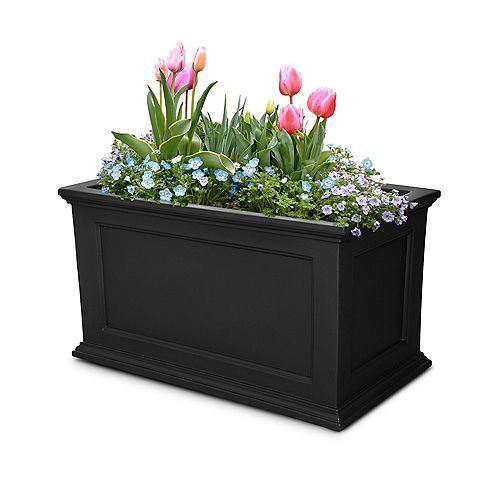 20-inch x 36-inch Fairfield Patio Planter in Black