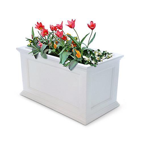 20-inch x 36-inch Fairfield Patio Planter in White