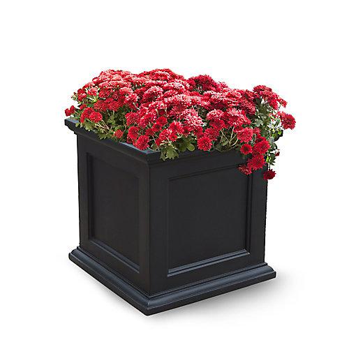 Planteur de patio de Fairfield, 20 po x 20 po (noir)