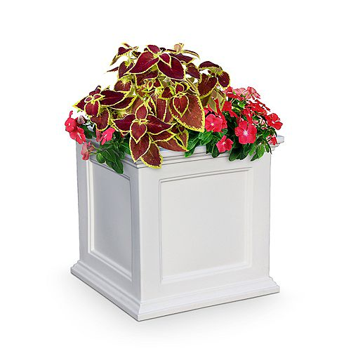 Mayne 20-inch Square Fairfield Patio Planter in White