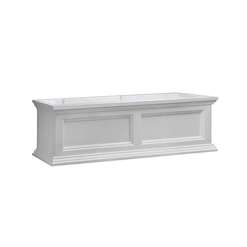 Fairfield 3 ft. Window Box in White
