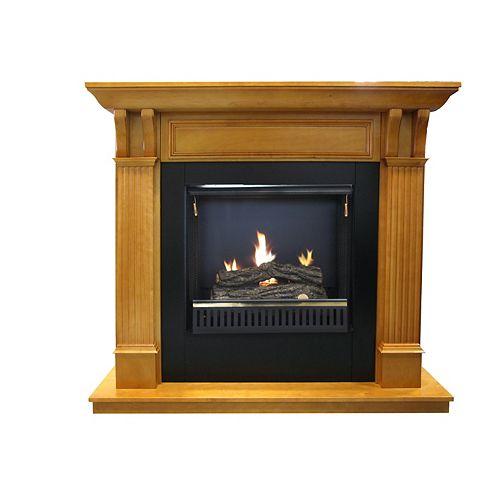 Whistler Oak Gel Fireplace  23 Inch