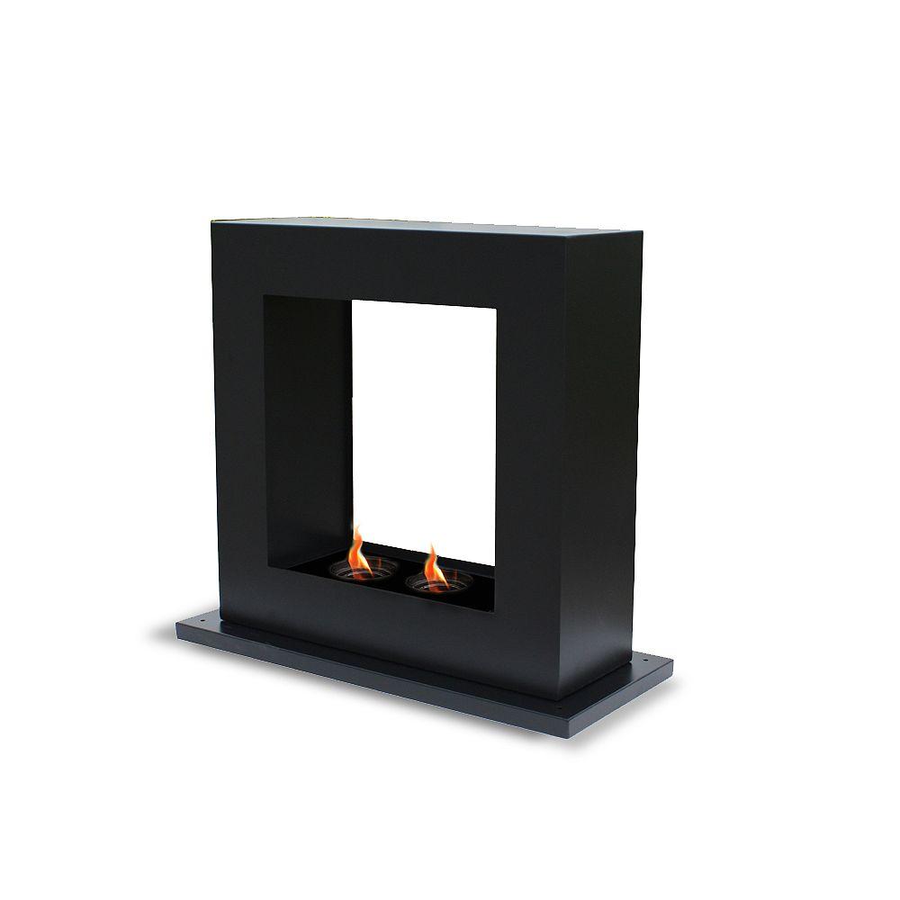 Paramount Free Standing Gel Fuel Peninsula Fireplace