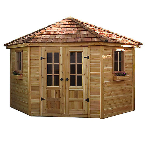 9 ft. x 9 ft. Penthouse Garden Shed with Floor
