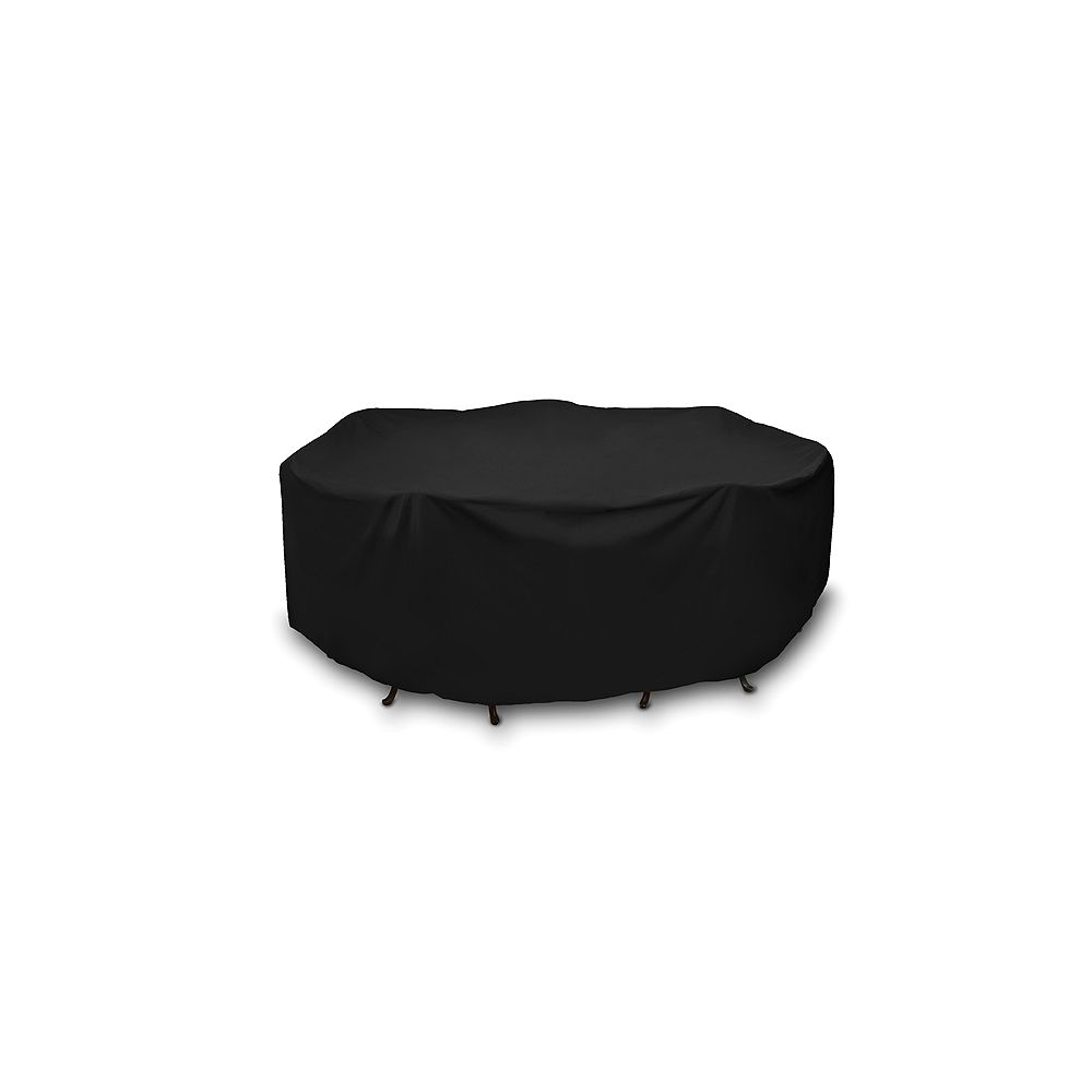 WeatherReady 108-inch Round Outdoor Table Cover in Black