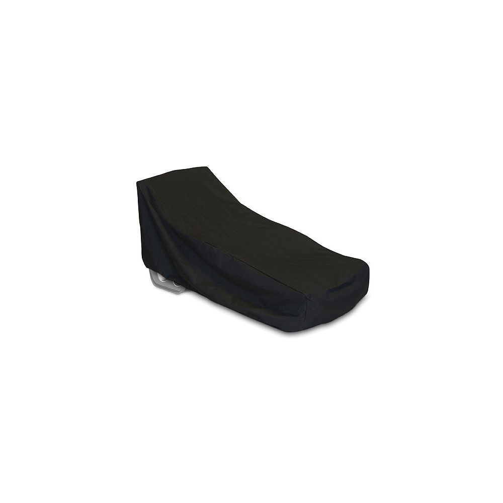 WeatherReady Oversized Outdoor Chaise Cover in Black