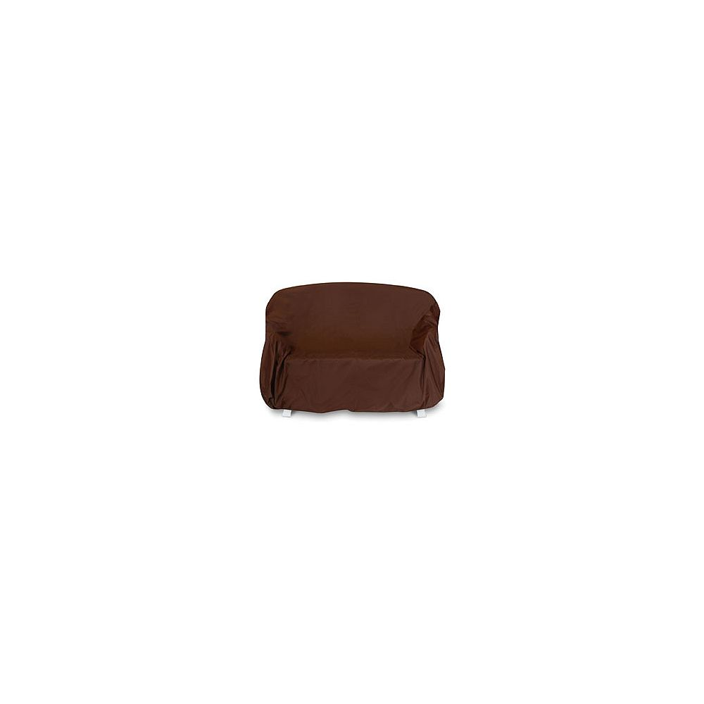 Two Dogs Designs 3-Seat Outdoor Sofa Cover in Chocolate Brown