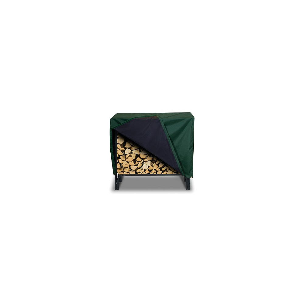 Two Dogs Designs Log Rack Cover, Hunter Green- 48 Inches