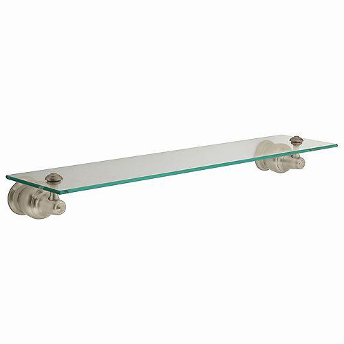 Decorator Brushed Nickel Glass Shelf