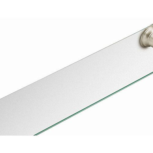 Kingsley Brushed Nickel Glass Shelf