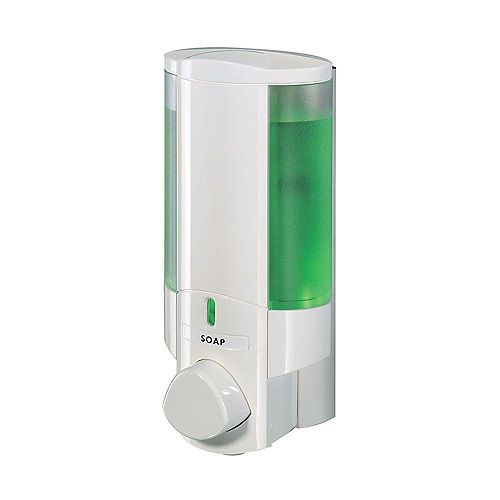 I White,Translucent Bottle with White Button