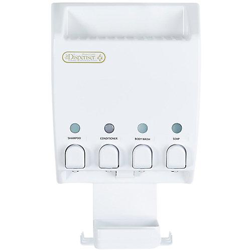 Ulti-Mate Dispenser 4 White Shower Caddy