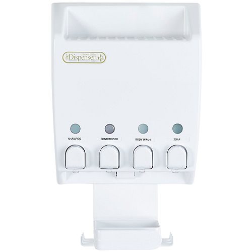 Ulti-Mate Dispenser 4 White Shower Caddy