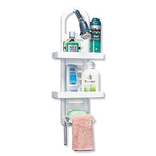 Étagère pour douche, blanc