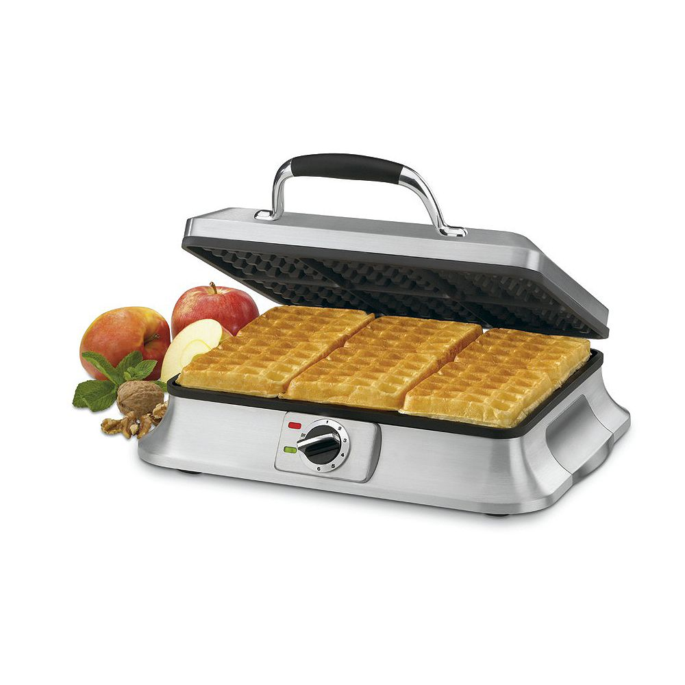 Cuisinart Brushed stainless steel Waffle Iron  6 Slices