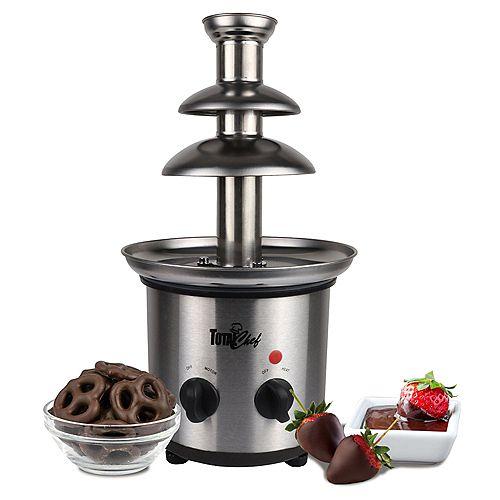 Fontaine de chocolat en acier inoxydable