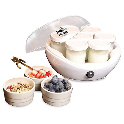 7-Jar Yogurt Maker in White