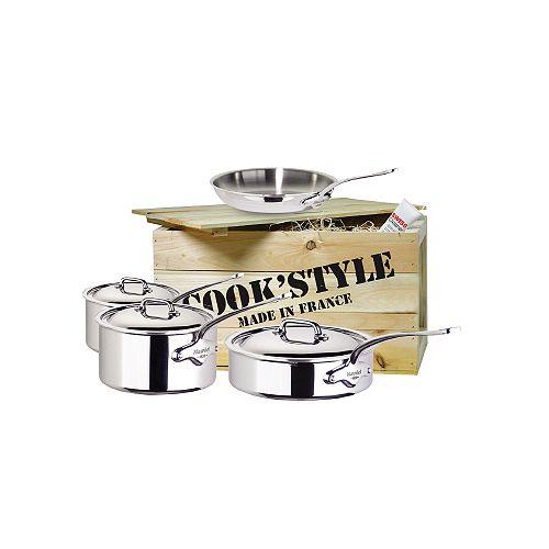 Batterie de cuisine en acier inoxydable Cook'Style