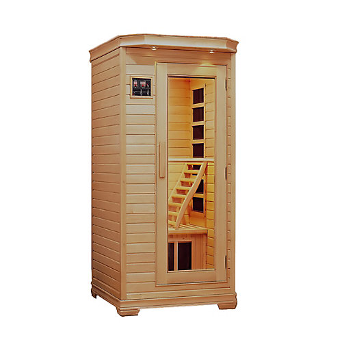 Infrared Carbon Heated Sauna - One Person