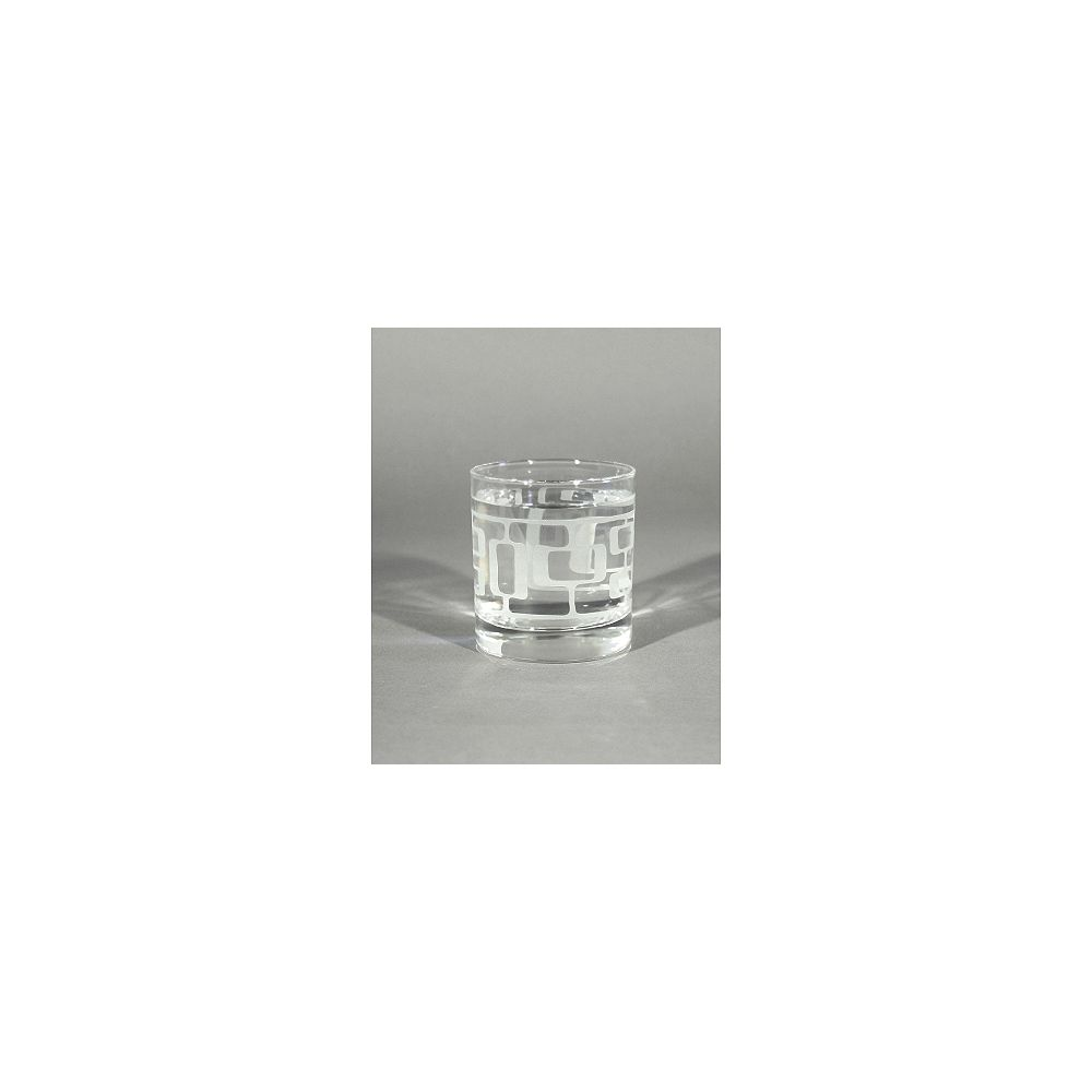 Angela Adams Rocks Glass Manfred-Frosted (Set of 4)