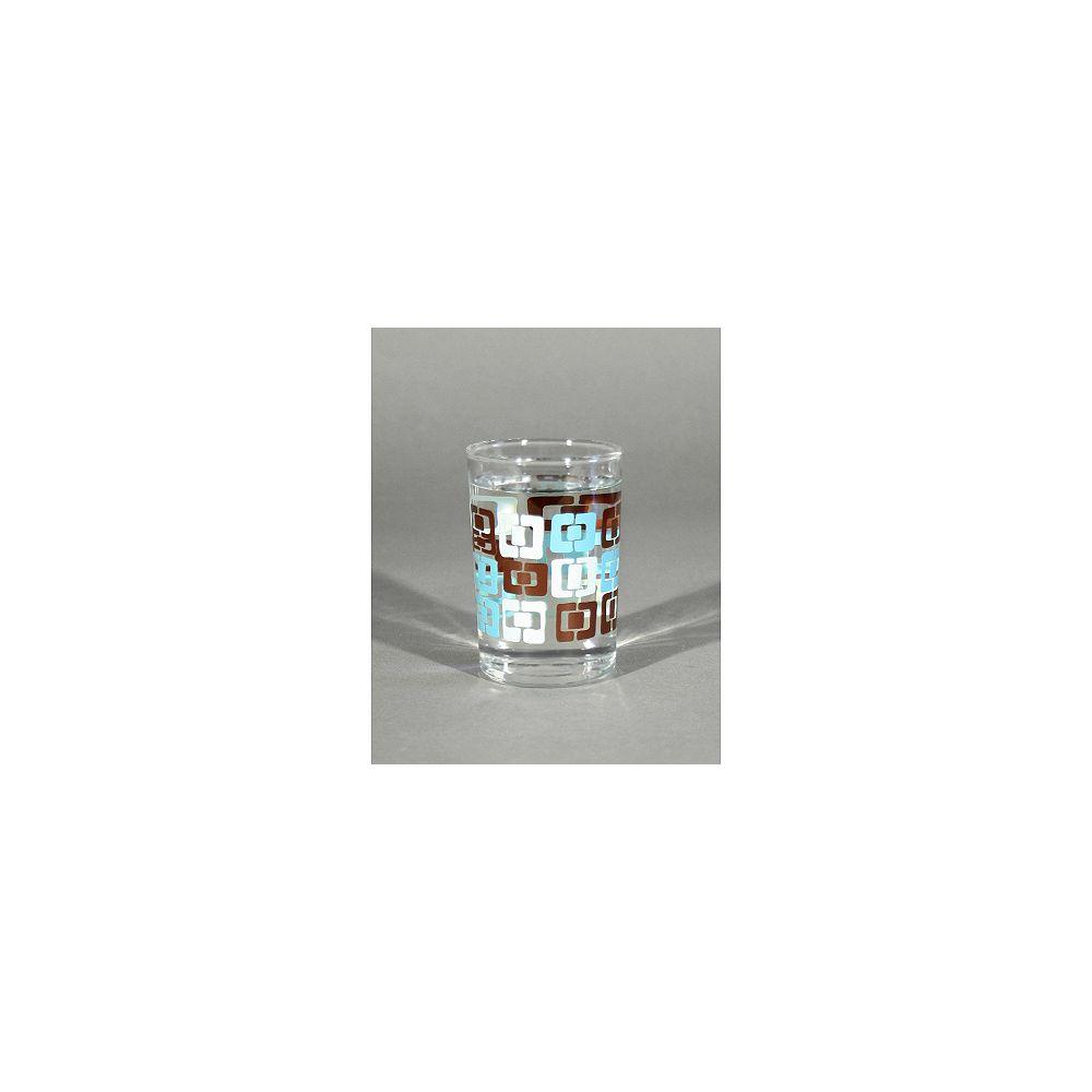 Angela Adams Verres à jus/Munjoy-Robin's Egg/givrés/ensemble de 4