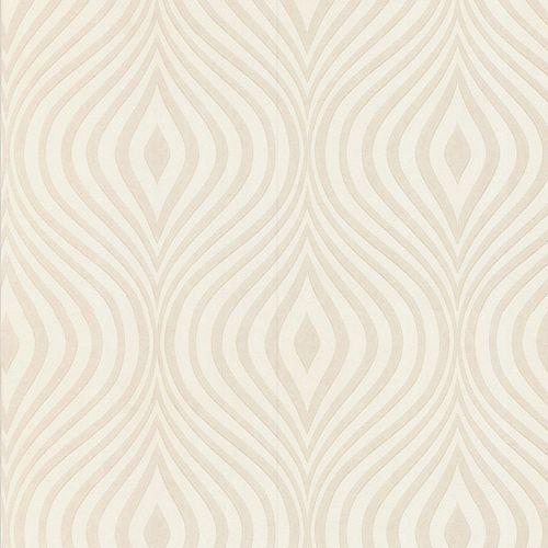 Courbée Papier Peint Peinturable Blanc