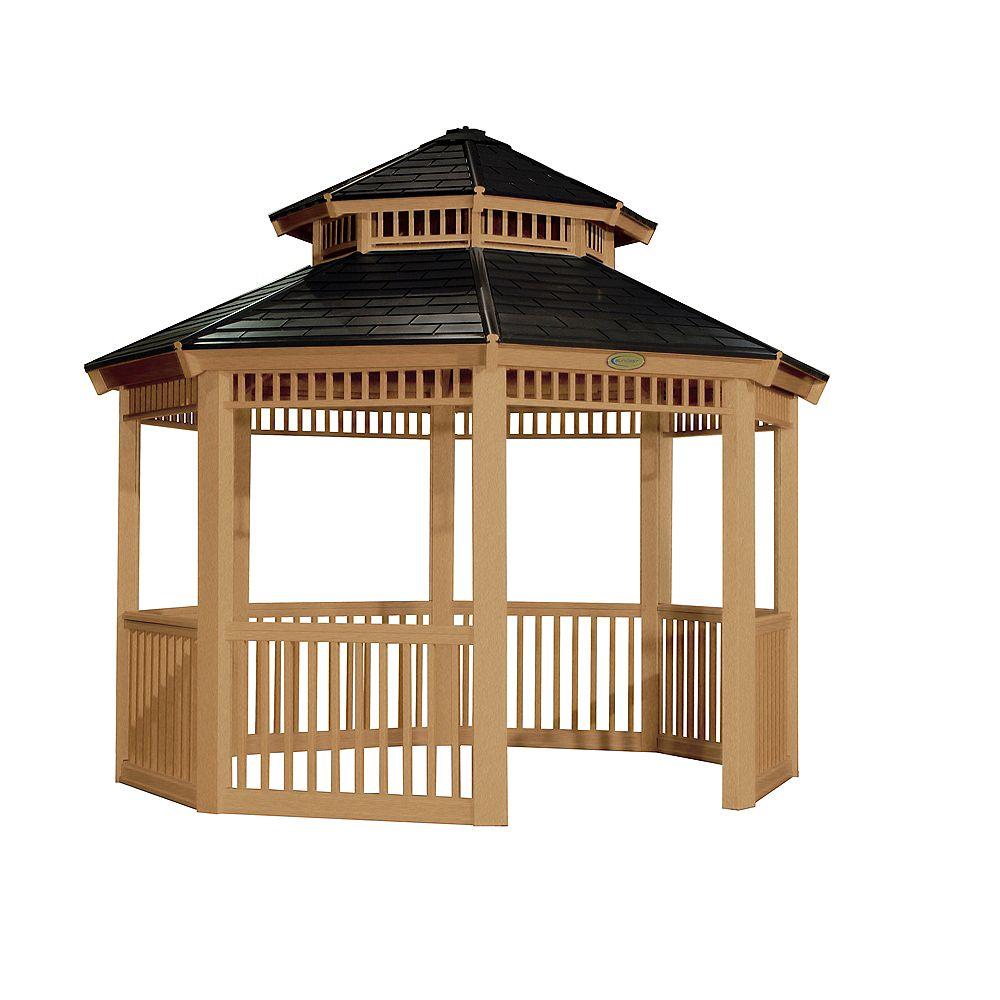 Kiosque de 10 pi x 10 pi (10,10 m x 10,10 m) Grain de bois