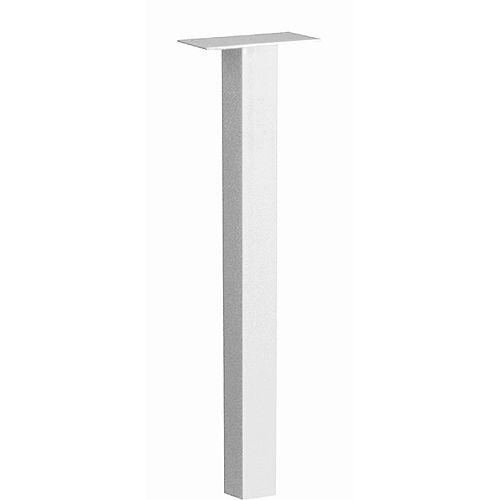 Poteau Standard à installation enterrée, blanc