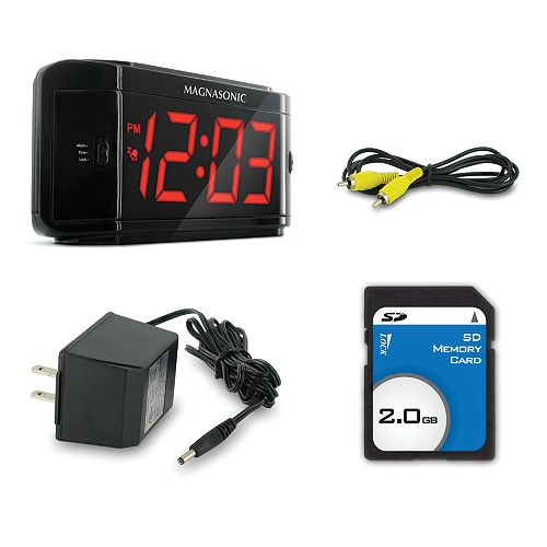 Covert Alarm Clock DVR with Built-in Color Pinhole Spy Camera