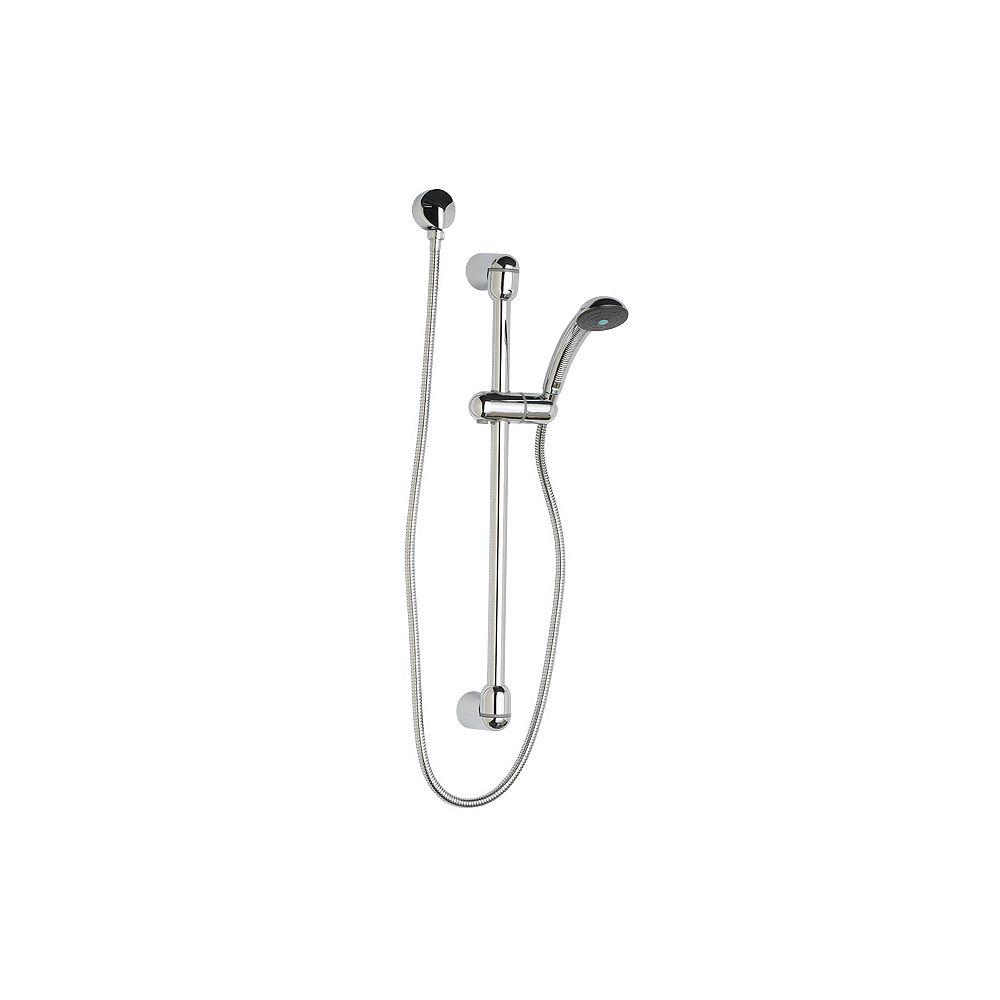 American Standard Kit de système de douche à main à 3 jets ronds fixes en acier inoxydable