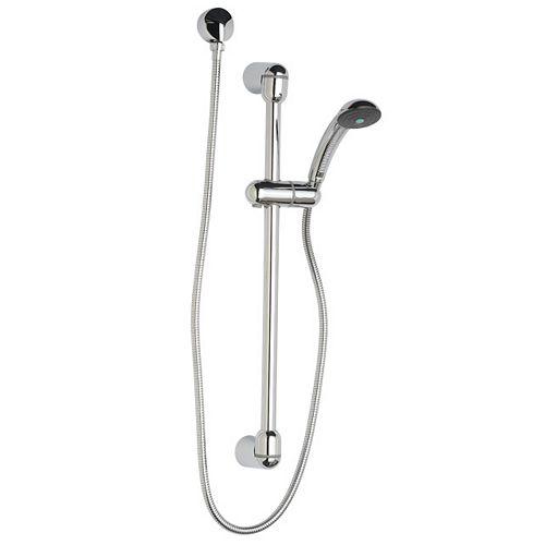 Kit de système de douche à main à 3 jets ronds fixes en acier inoxydable