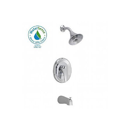 American Standard Seva Shower Faucet with Flo-Wise Water-Saving Turbine Spray Showerhead in Polished Chrome