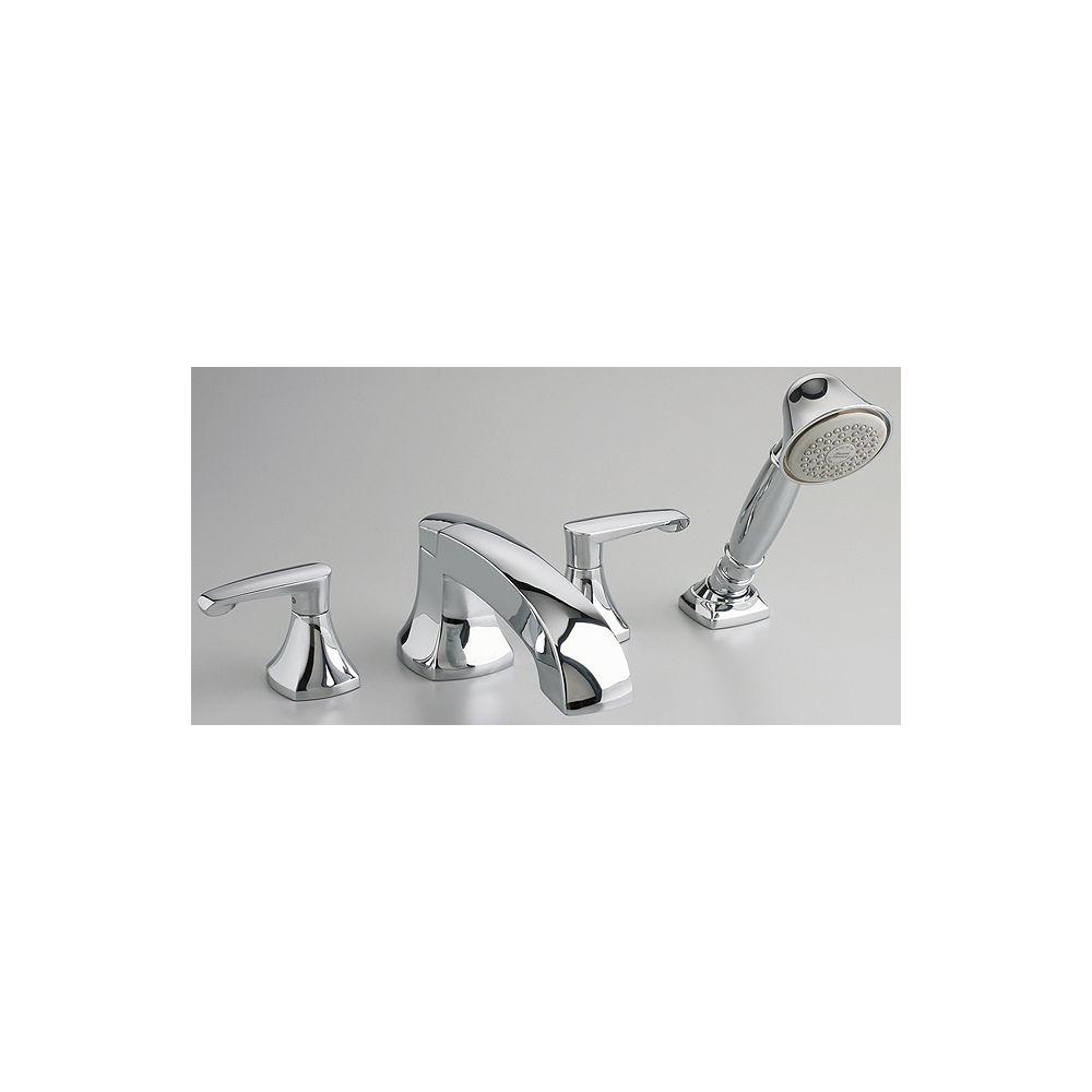 American Standard Copeland 2-Handle Deck-Mount Roman Bath Faucet with Hand Shower in Blackened Bronze