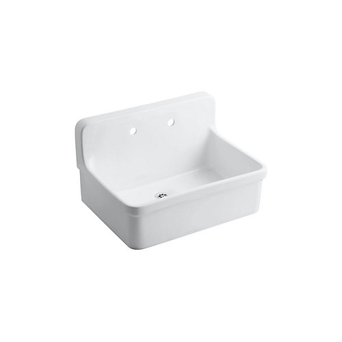 Gilford Scrub-Up/Plaster Sink in White