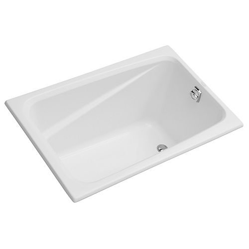 Greek 48-inch x 32-inch Acrylic Drop-In or Undermount Bathtub with Reversible Drain in White