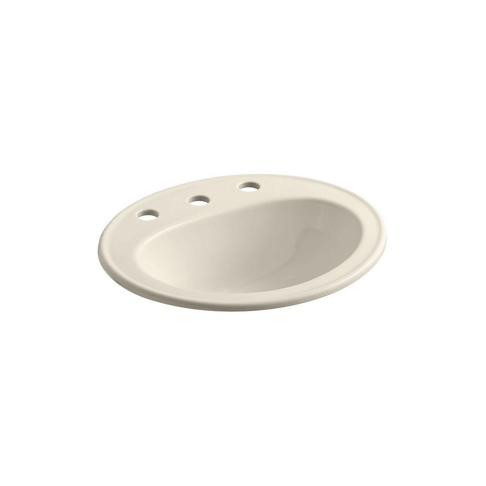 KOHLER Pennington(R) drop-in bathroom sink with 8 inch widespread faucet holes