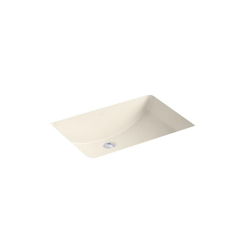 KOHLER Ladena(R) 23-1/4 inch x 16-1/4 inch x 8-1/8 inch under-mount bathroom sink