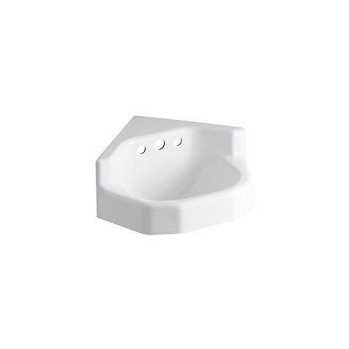 Marston(TM) 16 inch x 16 inch corner wall-mount/shelf-back bathroom sink