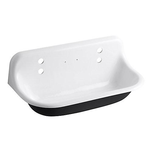 Brockway Wall-Mount Cast-Iron 36X17.5X15.625 Wash Sink In White