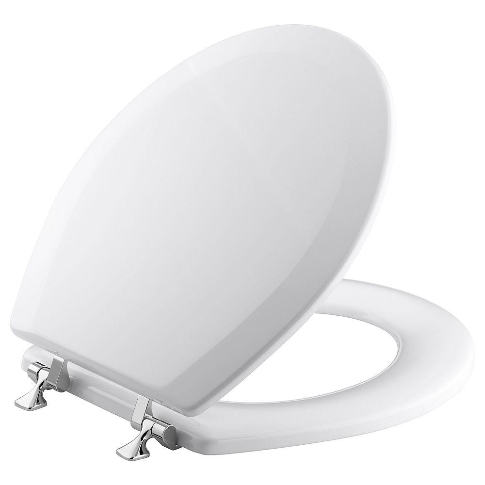KOHLER Triko Round Closed Front Toilet Seat in White