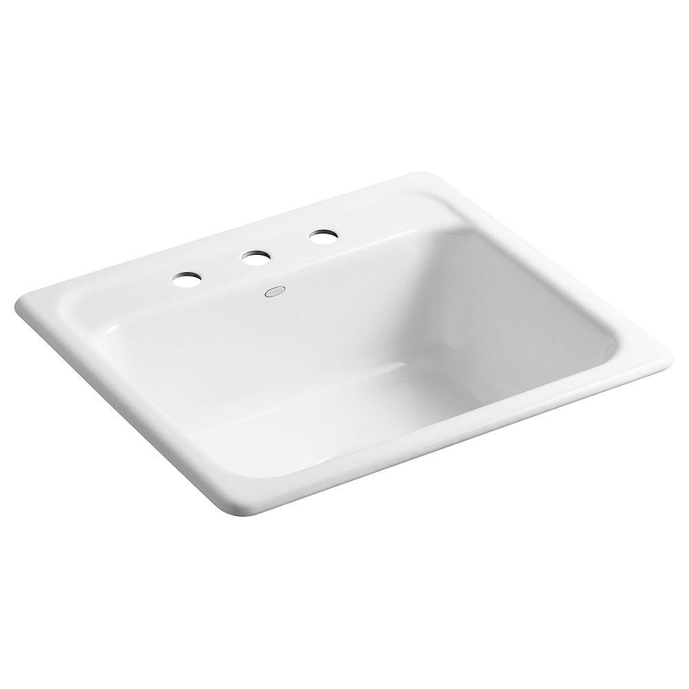KOHLER Mayfield(Tm) Self-Rimming Kitchen Sink in White